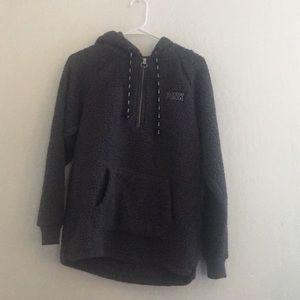 Dark grey Sherpa pink pullover